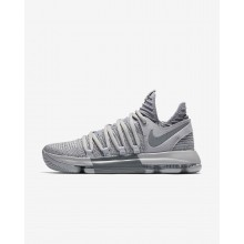 Nike Zoom KDX Basketball Shoes For Women Wolf Grey/Cool Grey 549TEHFY