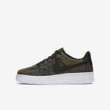 Nike Air Force 1 LV8 Lifestyle Shoes For Boys Medium Olive/Baroque Brown/Sequoia/Black 440DHKVO