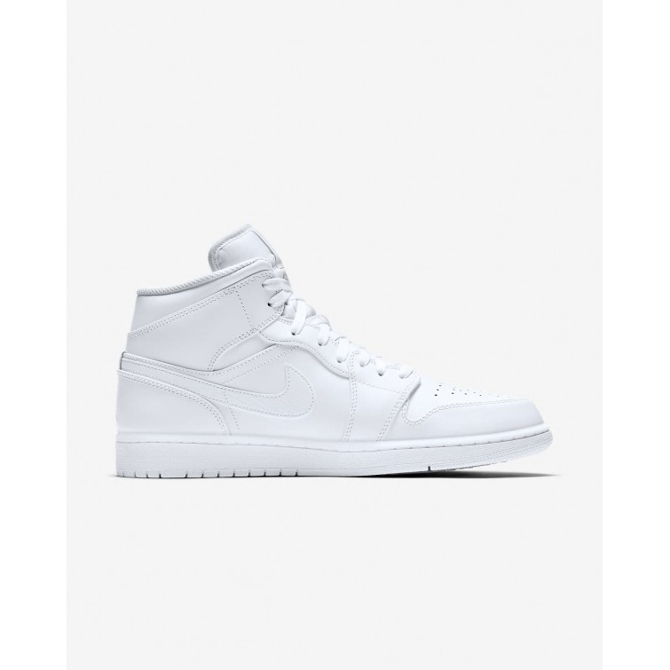 dd48ad18adfc18 ... Nike Air Jordan 1 Mid Lifestyle Shoes For Men White Pure Platinum  989IQXCG ...