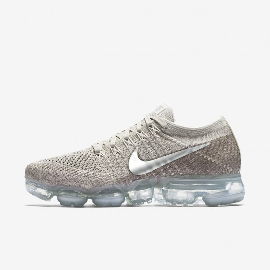 Nike Air VaporMax Flyknit Running Shoes For Women String/Sunset Glow/Taupe Grey/Chrome 616EOTWD