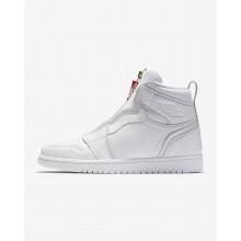 Nike Air Jordan 1 High Zip Casual Schoenen Dames Wit/Rood 808FCRWH