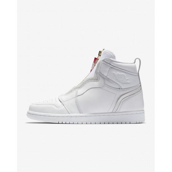 Sapatilhas Casual Nike Air Jordan 1 High Zip Mulher Branco/Vermelhas 514ESBYA