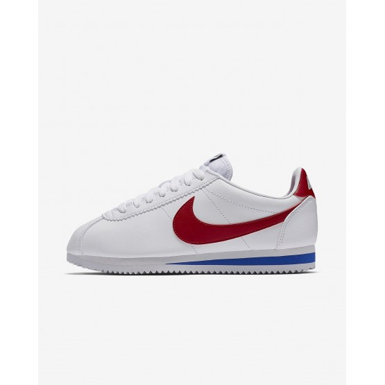 Sapatilhas Casual Nike Classic Cortez Mulher Branco/Azul Marinho/Vermelhas 633SJZCM
