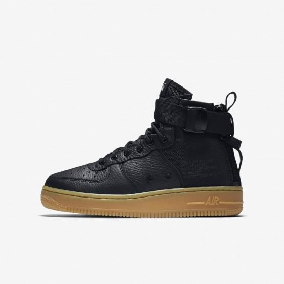 Zapatillas Casual Nike SF Air Force 1 Mid Niño Negras/Marrones Claro 533HGZOC