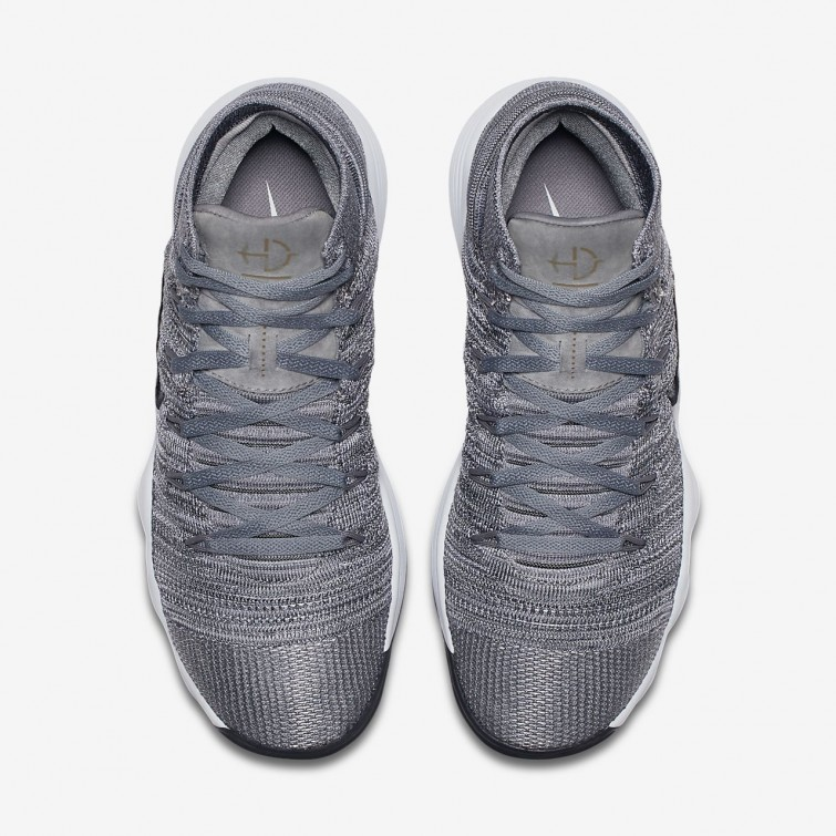 681acfe3e726 ... Nike React Hyperdunk 2017 Flyknit Basketball Shoes For Women Cool Grey Pure  Platinum White ...