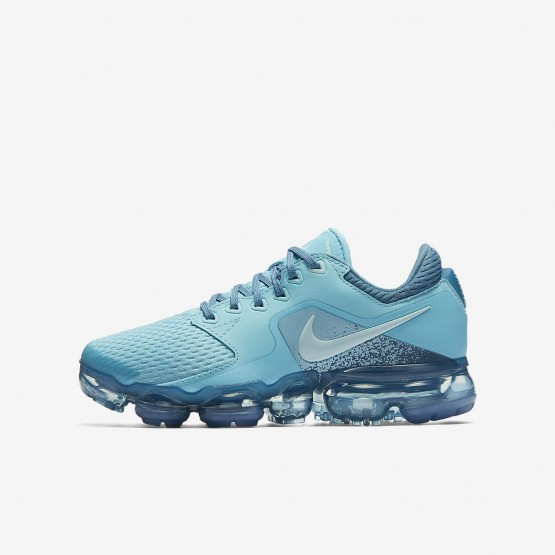 0085b348cbe Nike Air VaporMax Running Shoes Boys Bleached Aqua Noise Aqua Glacier Blue  889VHQOW