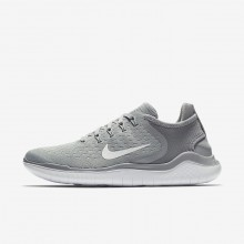 Nike Free RN 2018 Running Shoes For Women Wolf Grey/White/Volt 159LRDQB