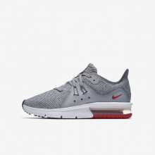 Nike Air Max Sequent 3 Running Shoes For Boys Wolf Grey/Anthracite/Pure Platinum 639OLWPG