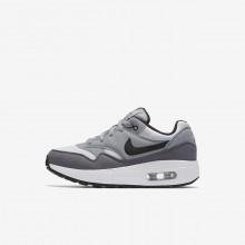 Zapatillas Casual Nike Air Max 1 Niño Blancas/Gris/Negras 945DIRZY