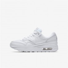 Nike Air Max 1 Lifestyle Shoes For Boys White/Metallic Silver 905MCYBV