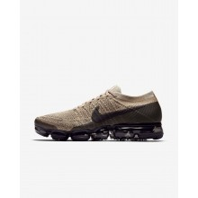 Nike Air VaporMax Flyknit Running Shoes For Men Khaki/Anthracite/Pale Grey/Black 505STIVG