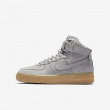Nike Air Force 1 Lifestyle Shoes Boys Medium Grey/Black/Gum Light Brown 139PDMJG