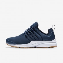 Nike Air Presto Lifestyle Shoes For Women Navy/Obsidian/Gum Light Brown 719OYUJQ