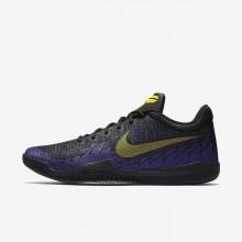 Tenis Basquete Nike Mamba Rage Homem Pretas/Roxo/Amarelas 212SJQLD
