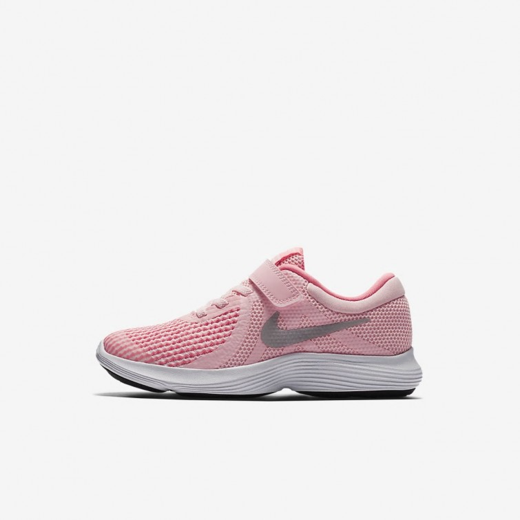 8d429c14ce1c Nike Revolution 4 Running Shoes Girls Arctic Punch Sunset Pulse White Metallic  Silver