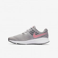 Nike Star Runner Running Shoes For Girls Atmosphere Grey/White/Gunsmoke/Sunset Pulse 537XBFZE