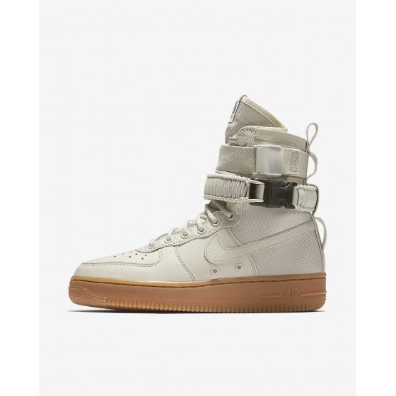 Nike SF Air Force 1 Lifestyle Shoes For Women Light Bone/Gum Medium Brown 749HELJX