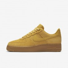 Nike Air Force 1 07 SE Lifestyle Shoes For Women Mineral Yellow/Gum Light Brown/Elemental Gold 863XCHGV