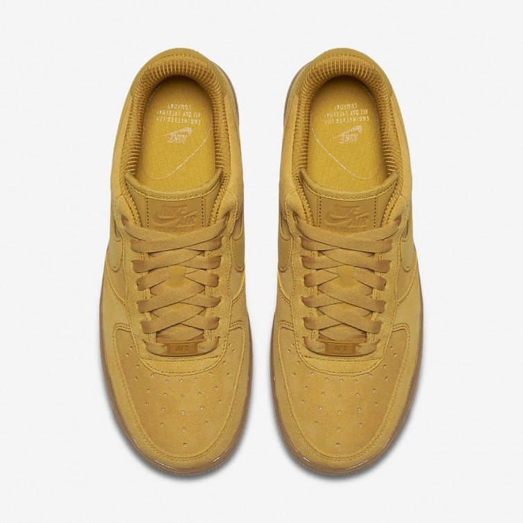 282a1fe6624f8 ... Nike Air Force 1 07 SE Lifestyle Shoes For Women Mineral Yellow Gum  Light Brown ...