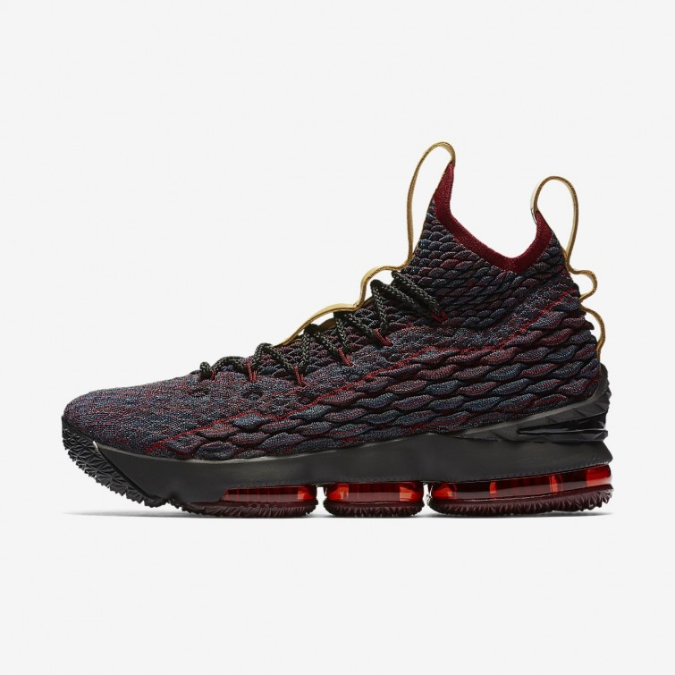 Nike LeBron 15 Basketball Shoes For Women Dark Atomic Teal Team Red Muted  Bronze 3a473267b4