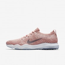 Nike Air Zoom Fearless Flyknit Lux Training Shoes For Women Rust Pink/White/Gunsmoke 108NTOMY