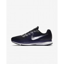 Nike Air Zoom Pegasus 34 Running Shoes For Women Black/Ink/Provence Purple/Metallic Silver 503DHUMR