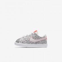 Nike Blazer Low QS Lifestyle Shoes For Girls White/Black/Bright Crimson 910FHULI