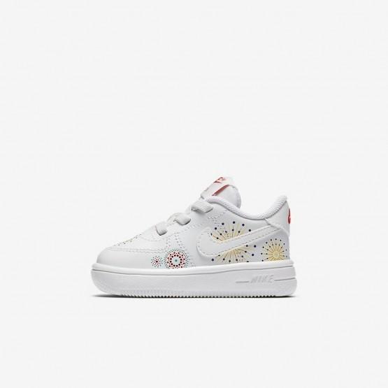 Sapatilhas Casual Nike Air Force 1 Pinnacle QS Menina Branco/Vermelhas/Verdes 461RTPMA