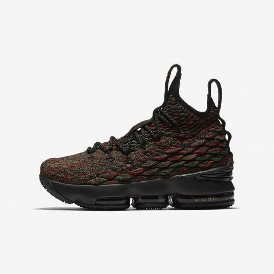 Nike LeBron 15 BHM Basketbalschoenen Jongens Zwart 756PAEKY