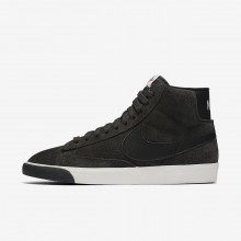 Nike Blazer Mid Vintage Lifestyle Shoes For Women Anthracite/Ivory/Gum Medium Brown/Black 937VZGWL