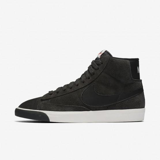 Nike Blazer Mid Vintage Lifestyle Shoes For Women Anthracite/Ivory/Gum Medium Brown/Black 937VZGWL