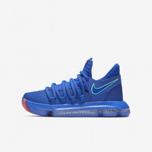 Nike Zoom KDX Basketball Shoes For Boys Racer Blue/Black/Total Crimson/Light Menta 185MWUND