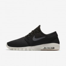 Nike SB Stefan Janoski Max Skateboarding Shoes For Men Black/Gum Medium Brown/Light Bone/Dark Grey 910WSDYO