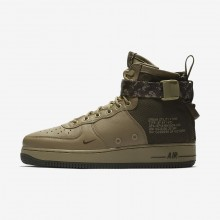 Nike SF Air Force 1 Mid Lifestyle Shoes For Men Neutral Olive/Cargo Khaki 859BLWJX