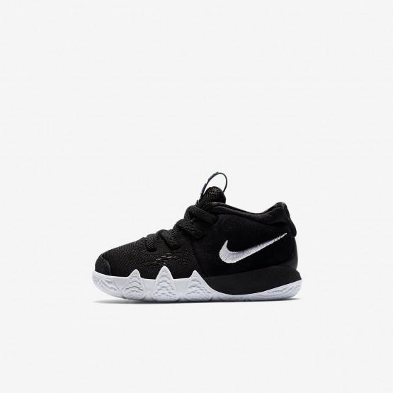 Nike Kyrie 4 Basketbalschoenen Meisjes Zwart/LichtBlauw/Wit 154TMREI
