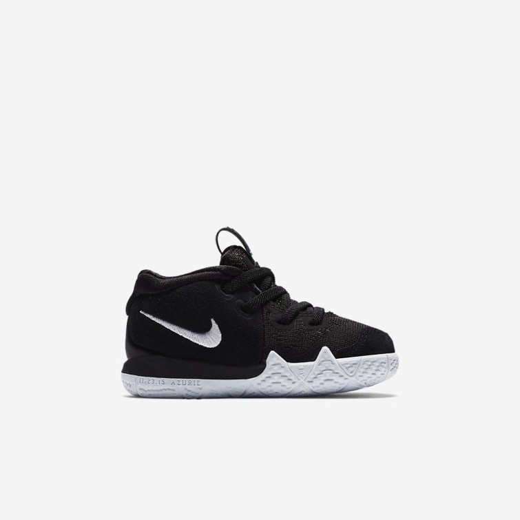 83ecfd103901 ... Nike Kyrie 4 Basketball Shoes Girls Black Anthracite Light Racer Blue  White 255VUGMD ...