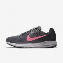 Nike Air Zoom Structure 21 Running Shoes For Women Gunsmoke/Anthracite/Atmosphere Grey/Sunset Pulse 999KBTZY