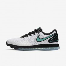 Nike Zoom All Out Low 2 Running Shoes For Men White/Black/Clear Jade 265WLFJY