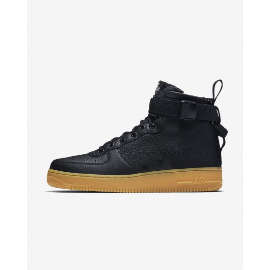 Nike SF Air Force 1 Mid Casual Schoenen Heren Zwart/LichtBruine 333YJMKV