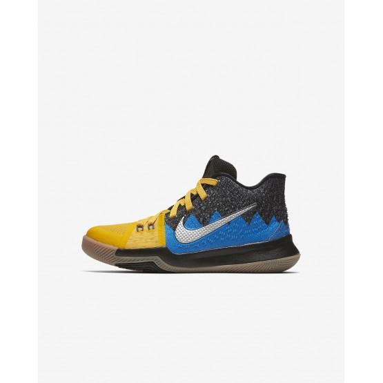 Zapatillas Baloncesto Nike Kyrie 3 What The Niña Doradas/Negras/Azules 502FVZWD