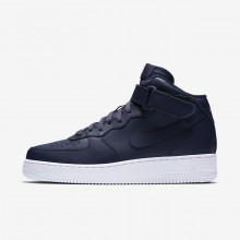 Nike Air Force 1 Mid 07 Lifestyle Shoes For Men Obsidian/White 959RJGEK