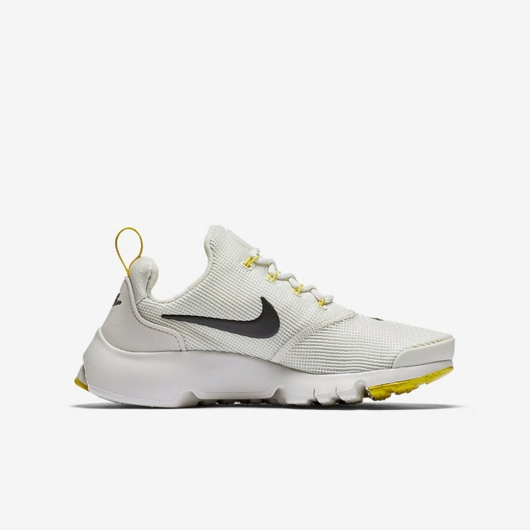 ee329a8025aff ... Nike Presto Fly Lifestyle Shoes For Boys Light Bone Vivid Sulfur Velvet  Brown 887TBZYD ...