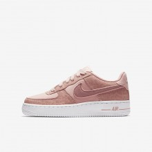 Nike Air Force 1 LV8 Lifestyle Shoes For Girls Coral Stardust/White/Rust Pink 857GPNXB