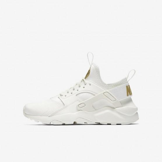 Sapatilhas Casual Nike Air Huarache Ultra Menino Branco/Metal Douradas 344INXRB