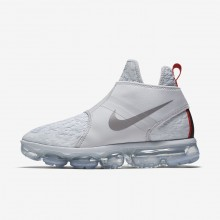 Nike Air VaporMax Chukka Slip Lifestyle Shoes For Men Pure Platinum/White/Team Orange/Reflect Silver 809YGNKL