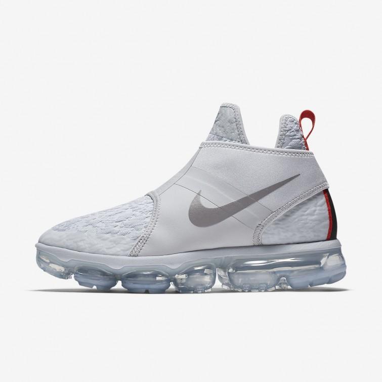 d0a67634c4fe Nike Air VaporMax Chukka Slip Lifestyle Shoes For Men Pure  Platinum White Team Orange