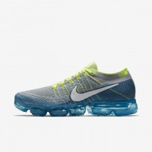 Nike Air VaporMax Flyknit Running Shoes For Men Wolf Grey/Chlorine Blue/Photo Blue/White 213GDABQ