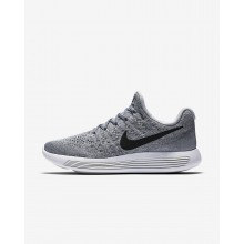 Nike LunarEpic Low Flyknit 2 Running Shoes For Women Wolf Grey/Cool Grey/Pure Platinum/Black 231GIYXR
