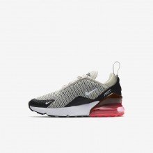 Nike Air Max 270 Lifestyle Shoes For Boys Light Bone/Black/Hot Punch/White 107CPVNI