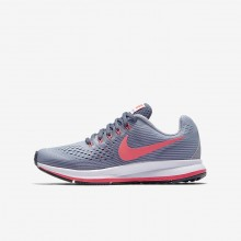 Nike Zoom Pegasus 34 Running Shoes For Girls Provence Purple/Light Carbon/Black/Solar Red 900UBXLI
